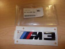 BMW M M3 Black Emblem Badge Logo 51148068580 Genuine  OEM