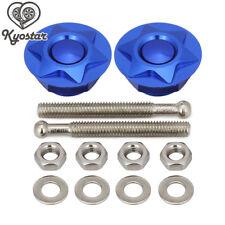 "2PC Blue Push Button Hood Pins Lock Quick Release Latch Bonnet1.25"" 31.75mm new"