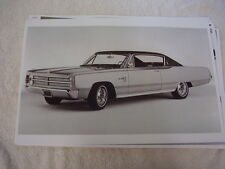 1967 PLYMOUTH SPORT FURY  2DR FASTBACK    11 X 17  PHOTO  PICTURE