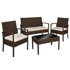 set di mobili rattan sintetico polyrattan 2 poltrone e tavolo giardino antico