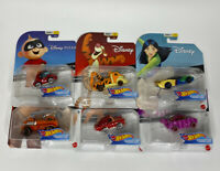 Hot Wheels Disney Character Cars Series 7 Set Cheshire Cat Tiger Mulan Rare HTF