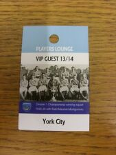 22/03/2014 Ticket: Portsmouth v York City [Players Lounge VIP Guest Pass] . Than
