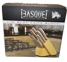 Solid Basque Platinum Series 10 Slot Knife Block New in Box BPKB-003
