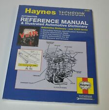 HAYNES TECHBOOK AUTOMOTIVE REFERENCE MANUAL & ILLUSTRATED Dictionary 2109 NEW