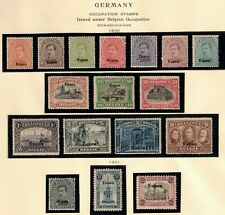 Germany 1920-21 Lot of 17 Occupation Stamps Sc# 1N25-1N41 MH