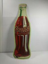 "Coca Cola Soda Advertising 21"" Coke Bottle Embossed Tin Metal Sign Mancave Repop"