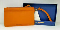 Lucky Brand Safron Leather Wristlet Clutch Wallet with Removable Card Case NEW