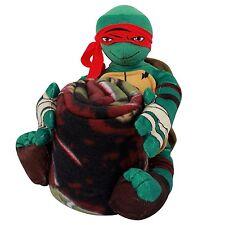 TMNT Raphael Teenage Mutant Ninja Turtles pillow doll and fleece blanket   NEW