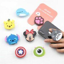 Universal Socket Cute Carton Phone Holder Stand Mobile Grip Mount Black White