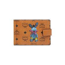 MCM Rabbit Money Clip Coated Canvas Material MYC6AXL53CO Cognac Color