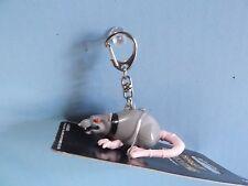 "Creepy Plastic Rat Keyring 2.5""in Long w/Hissing Sound"