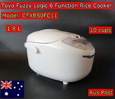 TOYO Deluxe Fuzzy Logic Multi Functions Rice Cooker With keep Warm (10 Cups) New