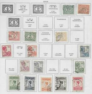 16 Dutch Indies Stamps from Quality Old Antique Album 1912-1930