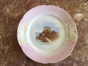 Victoria Carlsbad Austria Large Cabinet Plate Signed Kauffman Goddess 9 Inches