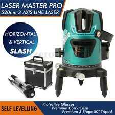 Slash 520nm Diagona Rotary Laser Line Beam Leveling Level Meter Tripod Kit Green