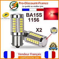 2 x Ampoule 33 LED BA15S 1156 P21W Rouge VOITURE Feux Stop Veilleuse