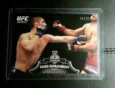 #/88 Khabib Nurmagomedov Black Debut Rookie Card RC 2012 Topps UFC Bloodlines