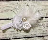 Vintage White Christening /Baptism Baby/Toddler /Girl Headband