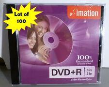 Imation DVD+R 16X 4.7GB w/Standard Jewel Case Lot of 100