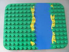 LEGO DUPLO @@ PLAQUE 31074 @@ PLATE @@12 X 16 TENONS @@ VERT RIVIERE @@ GREEN RI