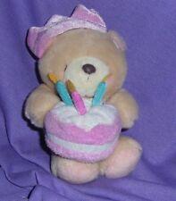"HALLMARK FOREVER FRIENDS"" TEDDY BEAR, WITH  BIRTHDAY CAKE & PARTY HAT (#B71-40)"