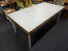 New Contemporary Concrete & Reclaimed Wood Large Dining Table *Furniture Store*