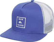 Quiksilver Mens Clipster 5 panel Snapback Trucker Hat - Medieval Blue