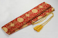 "53"" Elegant Red Auspicious Clouds Katana Japanese Samurai Sword Bag"