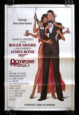 OCTOPUSSY * CineMasterpieces ADVANCE 1SH ORIGINAL MOVIE POSTER NM JAMES BOND