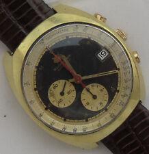 Bucherer Chrono Automatic mens wristwatch Date gold filled 40,5 mm. in diameter