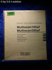Sony Bedienungsanleitung CPD 100SFT 200SFT Multiscan 100SF 200SF Display(#0633)