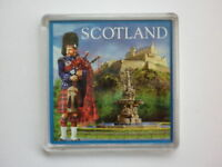 Fridge Magnet - PIPER & EDINBURGH CASTLE - Great Gift or Souvenir