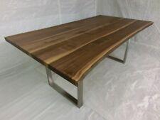 Nussbaum Esstisch mit Baumkante voll massiv! 2200 mm L x 900/ 950 mm B