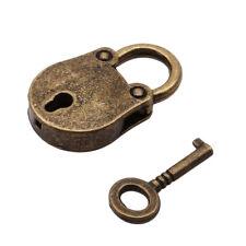 Iron Skeleton Key Padlock Western Style Heavy Duty Working Lock LE