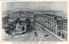 TORINO: Grand Hotel Roma e Rocca Cavour   1939 - dis. G. Mandelli, Como