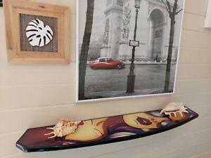 Half Surfboard Wall Shelf Bookshelf Wood Surfing Art Decor New