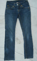True Religion women Straight Leg Jeans juniors size 26 faded WAK2074E4