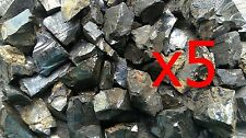 x5 Small Elite Shungite Rough Stones 1 gram each  - miracle healing stone