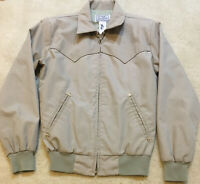 H Bar C California Ranchwear Vintage Gabardine Rockabilly Jacket Khaki Tan Small