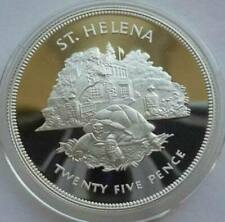 ST. HELENA 25 Pence 1977 Silver Proof Turtle