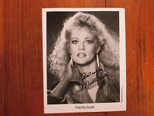 """MARTHA SMITH(""""Scarecrow and Mrs. King"""")Signed 8 X 10 Glossy Black & White Photo"""