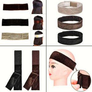 Lace Wig Band Squeeze Soft For Lace Wigs Bandana Adjustable Fastener Grip CB