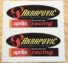 PEGATINA STICKER APRILIA AKRAPOVIC RACING MOTO