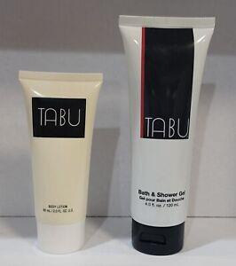 TABU by DANA Fragrance 2 pcs BODY LOTION 2.0 oz + SHOWER GEL 4 oz Unbox VINTAGE