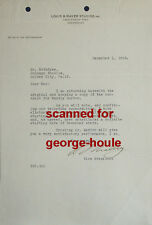 IRVING G. THALBERG - LETTER -AUTOGRAPH - CAMILLE - MUTINY - NORMA SHEARER