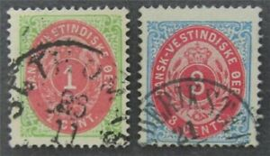 nystamps US Danish West Indies Stamp # 5,6 Used $50   L30x1004