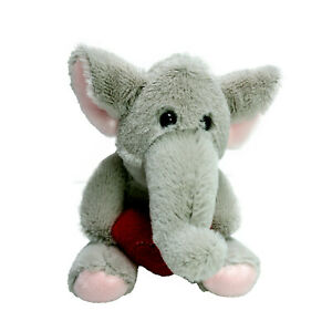 Russ Berrie Elephant Mini Plush Heart Soft Stuffed Toy 12cm Washed and Clean