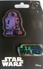More details for uk disney star wars pins pin set - r2-d2 & logo *new*