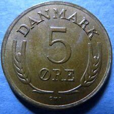 *DENMARK, Vintage  1968  5  ORE COIN, Extra Fine Circulated, NICE COIN #3