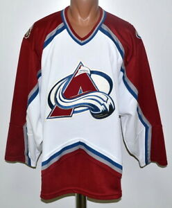 Size L adult NHL Colorado Avalanche ice hockey shirt jersey CCM vintage